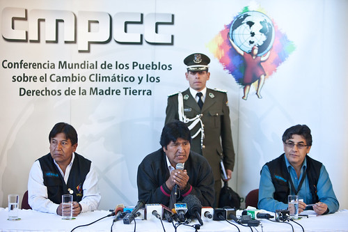 Evo Morales Press Conference - World People's Conference on Climate  Change and the Rights of Mother Earth - Cochabamba, Bolivia