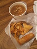 Egg roll, rangoon, hot and sour soup