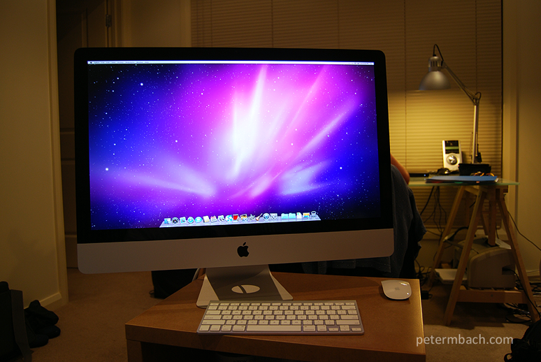 My new iMac (default OSX)