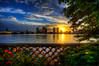 End of the day from the Society of the Four Arts - West Palm Beach (MDSimages.com) Tags: world city travel sunset sky urban usa cloud sun water skyline clouds digital america reflections photography evening coast blog media cityscape unitedstates florida dusk south may westpalmbeach east coastal processing northamerica metropolis southeast palmbeach 2009 brilliant metropolitan hdr southflorida intracoastal palmbeachcounty westpalm sunfest photomatix hdrsky nikond300 societyofthefourarts michaelsteighner mdsimages hyliteproductions westpalmbeachskyline palmbeachbikepath photomike07 sunfest2010 mdsimagescom hylitecom