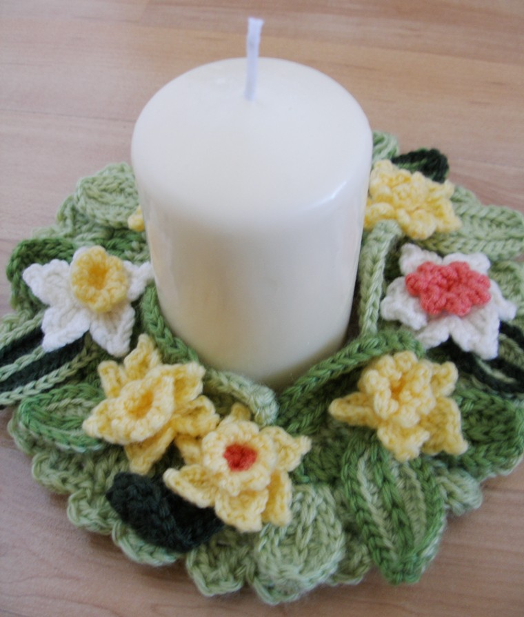Springtime candle wreath