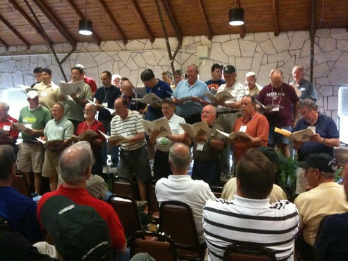 Men's choir in 2010 at the Mo-Ranch Men' by Wesley Fryer, on Flickr