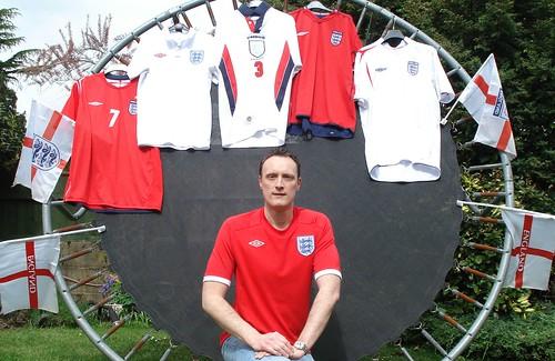 Chris with England