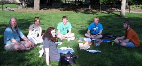 Dum la grupa pikniko