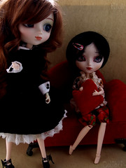 telle & Colibrie | Pullips Dita & Kirsche Full custom (Zoo*) Tags: red rouge doll noir sofa balck pullip custom marron custo brun dita beautymark coolcat kirsche graindebeaut cancanwig bhcoutfit obitsu27cm colibrie fullcustom fullcusto obitsu25cm telle sticaoutfit