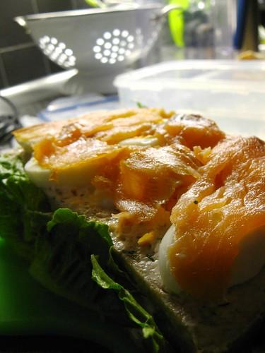 smörgåstårta med romsås