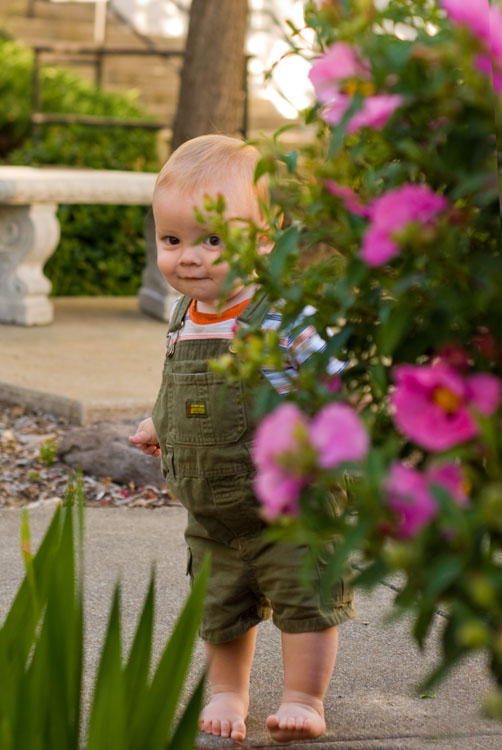 Johnathan in Flower Garden