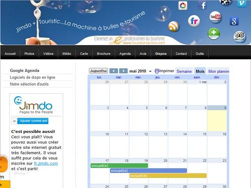 Google agenda Vision publque du planning des dispos sans précisions sur le client - non connecté à votre compte Google