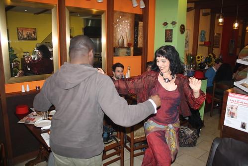 Dancing at Café Nour