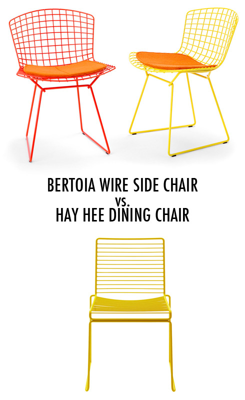 Bertoia Wire Side Chair vs. Hay Hee Dining Chair