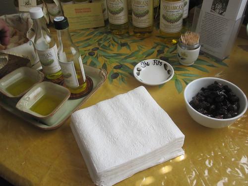 Olive oil tasting at Homewood