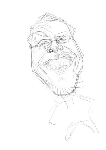 digital sketch of Robert Summer (Floyd) - 1