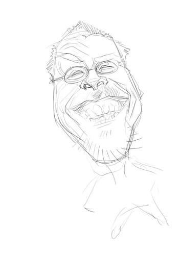 digital sketch of Robert Summer (Floyd) - 1