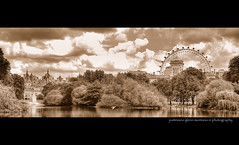 Saint James's Park London England (j glenn montano 3) Tags: park england panorama horse lake london eye tower westminster saint st mall island james duck office glenn royal shell palace guards foreign buckingham commonwealth whitehall hdr montano jamess justiniano