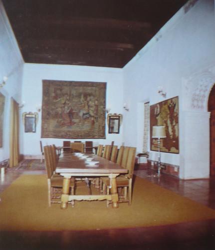 Palacio de Fuensalida en 1979. Interior de la sala de la Emperatriz