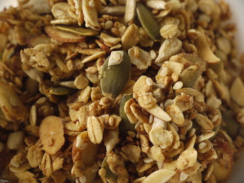 closeup granola
