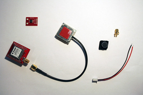 GPS Copernicus DIP Module, Antenna GPS Embedded SMA, ACS712 Breakout and Jumper Wire, Electret Microphone