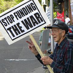 Protest against war funding at the office of Representative McCollum