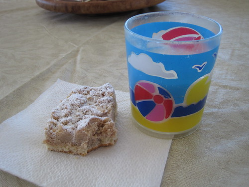 coffee cake and milk