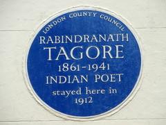 Photo of Rabindranath Tagore blue plaque