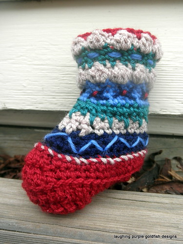 embroidered bootee