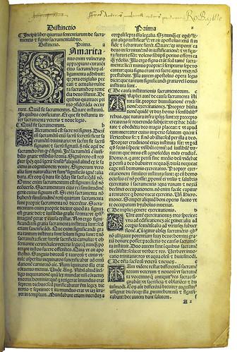 Opening Page of 'Super Quarto Libro Sententiarum'