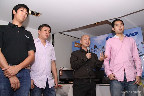 Lenovo Representatives: Francis Judan, Michael Ngan, Vincent Song and Jimmy Chin
