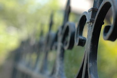 Fence Friday: The Oxford Street Edition (heyk8) Tags: black metal bokeh oxfordstreet wroughtironfence fencefriday
