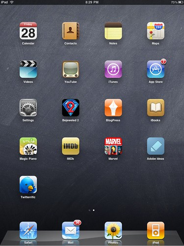 iPad Home Screen 28/05/10