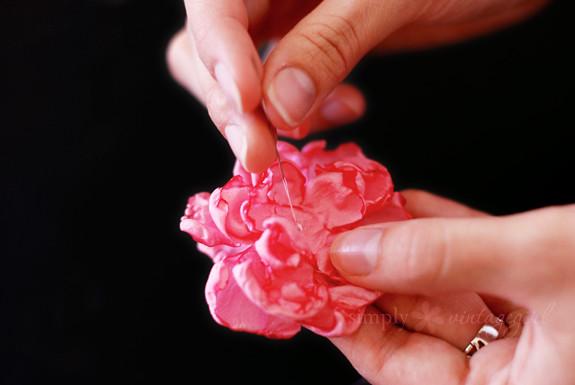 Fabric Flower Tutorial: Step 5