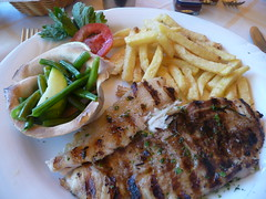 Grilled fish (prondis_in_kenya) Tags: fish lunch restaurant beans dish kenya nairobi plate chips grilled trattoria maincourse longrains