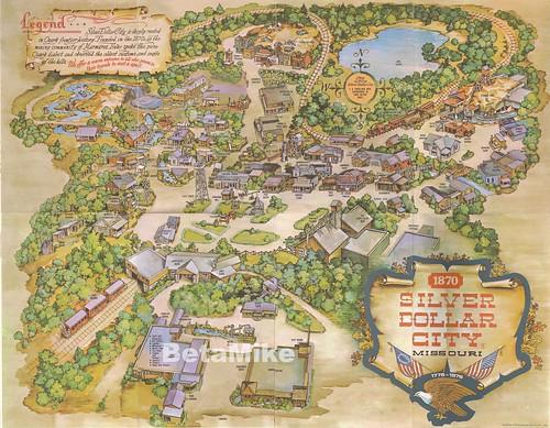 1976 Silver Dollar City Oversize Souvenir Map   a photo on Flickriver