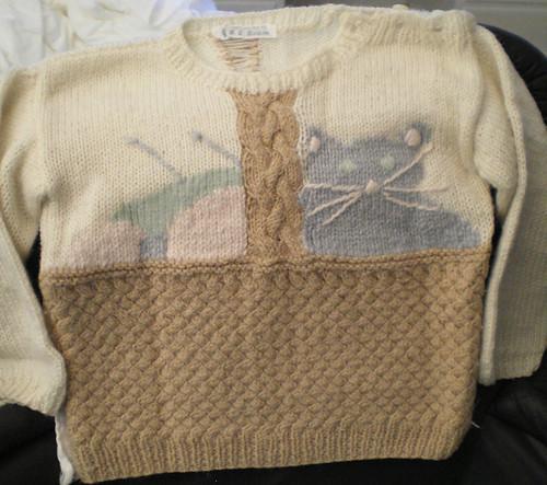 cat basket sweater 2