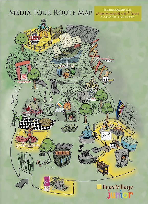 Feast Village Map (3rd July 2010)