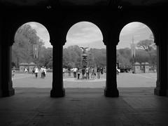 CPt2 (SG Dorney) Tags: park city nyc newyorkcity blackandwhite bw ny newyork centralpark manhattan arches uptown fotocompetition fotocompetitionbronze herowinner