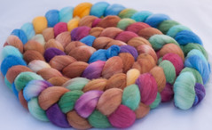 15% sale- Treasure in Clay Jars on Super Fine Merino Top 4 oz (...a time to dye)