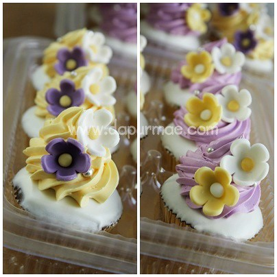 Purple & Yellow Cupcakes