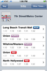 iTrans is great for getting next trip info for Metro Rail