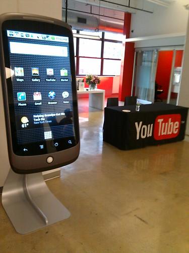 Giant Nexus One at Google NYC