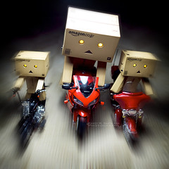 058/365:  Ride Towards The Light! (Randy Santa-Ana) Tags: light toys ride zoom motorcycle danbo gf1 project365 danboard minidanboard minidanbo 365daysofdanbo