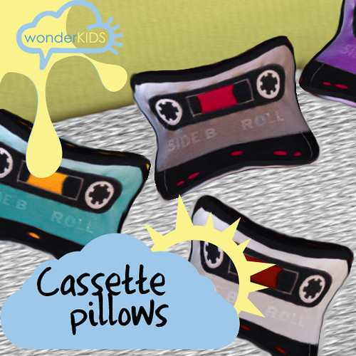 <(wonderkids)! cassette pillows