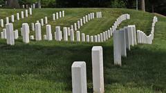Cemetery Contours (Mondmann) Tags: usa cemetery arlington america virginia washingtondc unitedstates headstones arlingtonnationalcemetery gravestones contours gravemarkers nikond90 mondmann