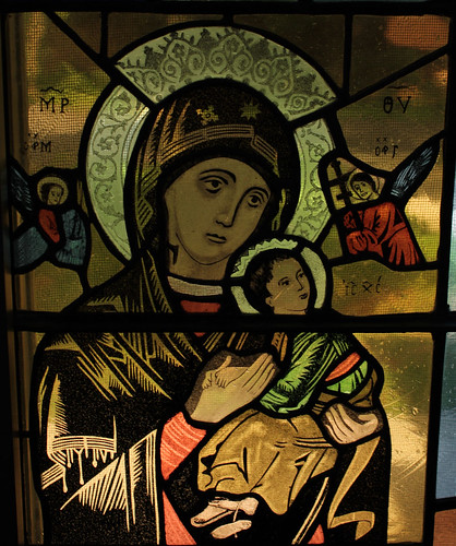 Our Lady of Perpetual Help Window Detail