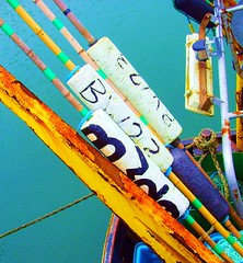 Barrow fishing rods (Tony Worrall Foto) Tags: uk england fish color up lines sticks fishing colours northwest lakes lakedistrict fishingboat rods tackle bait barrow haul lined furness barrowinfurness southlakes