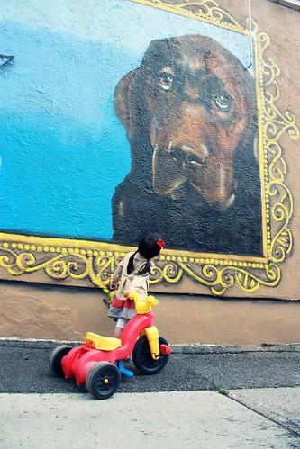 biking to the wall mural