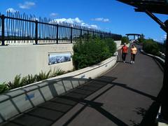 Walkers on Vancouver Land Bridge