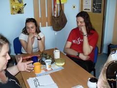 Beseda o první pomoci - polohování zraněných, Znojmo, 8. 6. 2010