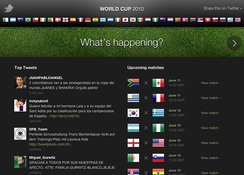 Twitter entra oficialmente al Mundial FIFA Sudáfrica 2010