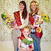 2010 Bloxwich Carnival Queen Jessica Jones, Princess Jessica Watts, and Rosebud Holly Arrowsmith
