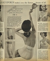 Spiegel 1966 Maidenform girdle (genibee) Tags: blackandwhite woman mirror clothing underwear spiegel bra 1966 foundation catalog 1960s sixties garment girdle maidenform